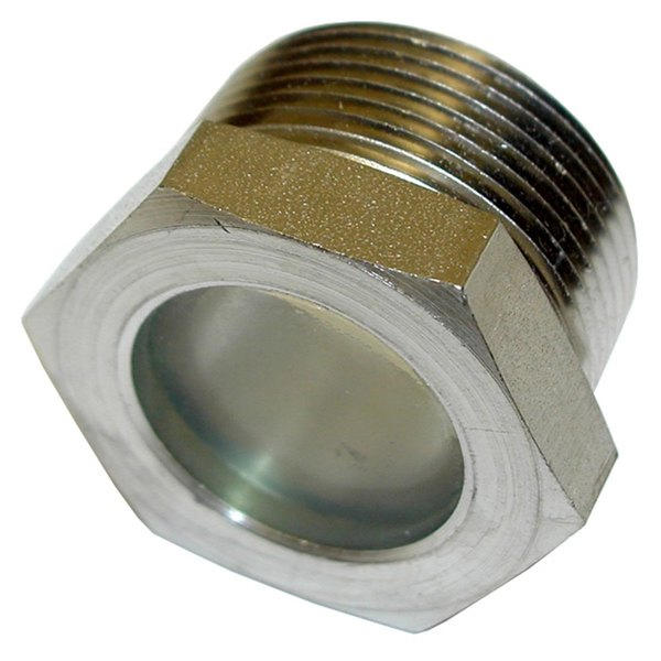 """All Points 32-1384 Sight / Gauge Glass Assembly; 1/4"""" MPT Plug with Sight Glass Main Image 1"""