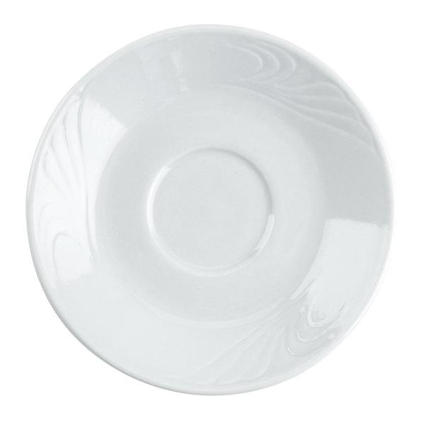 """CAC RSV-55 Roosevelt 4 7/8"""" Super White Porcelain Saucer - 36/Case Main Image 1"""