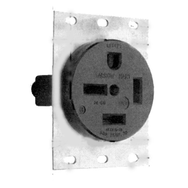 All Points 38-1281 Single Receptacle; NEMA 15-50R (3 Phase)