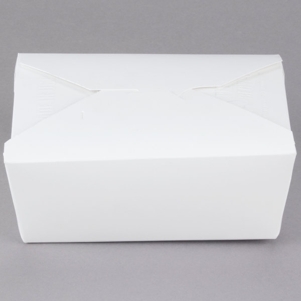 Southern Champion 778 6 inch x 5 inch x 3 inch ChampPak Retro White Paper #8 Take-Out Container  - 50/Pack