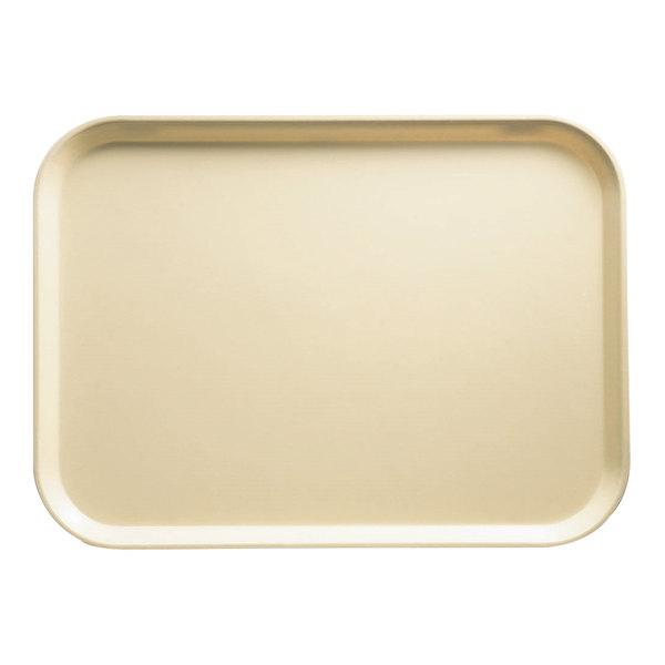 "Cambro 3046537 11 13/16"" x 18 1/8"" (30 x 46 cm) Rectangular Metric Cameo Yellow Customizable Fiberglass Camtray - 12/Case"
