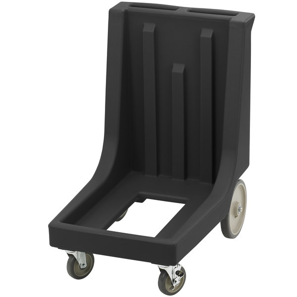 Cambro CD100HB110 Black Camdolly for Cambro Camcarriers and Camtainers with Handle & Rear Easy Wheels