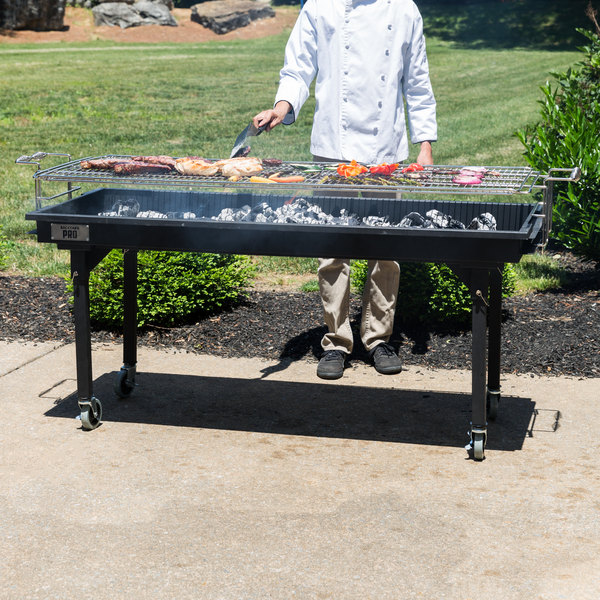 "Backyard Pro CHAR60 60"" Heavy-Duty Steel Charcoal Grill with Removable Legs and Cover"