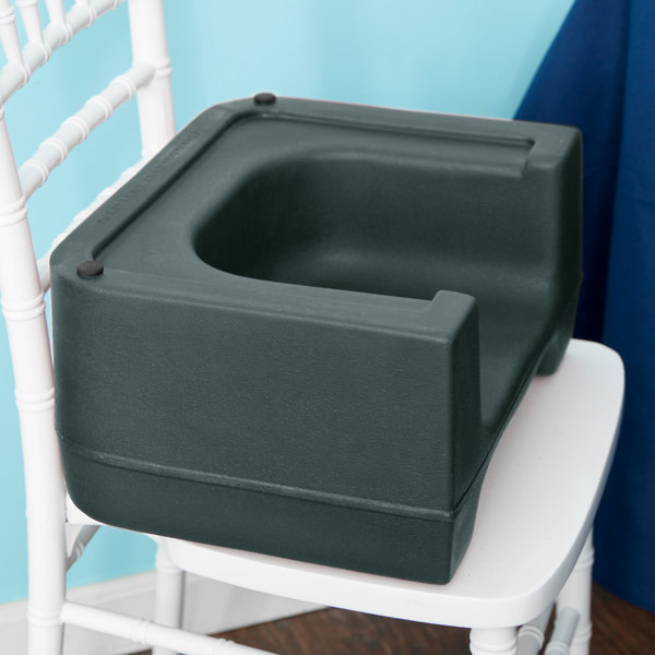 Carlisle 711008 Forest Green Plastic Booster Seat - Dual Seat Main Image 9