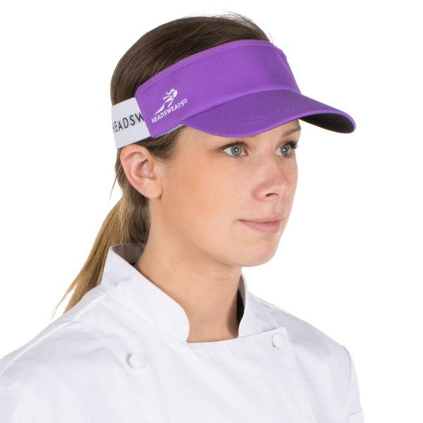 Headsweats Purple Customizable CoolMax Chef Visor