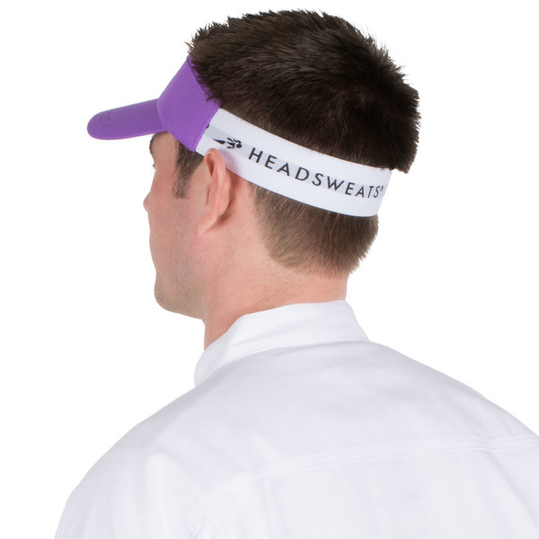 de94e85619dd3 Headsweats Purple Customizable CoolMax Chef Visor. Main Picture · Image  Preview · Image Preview · Image Preview