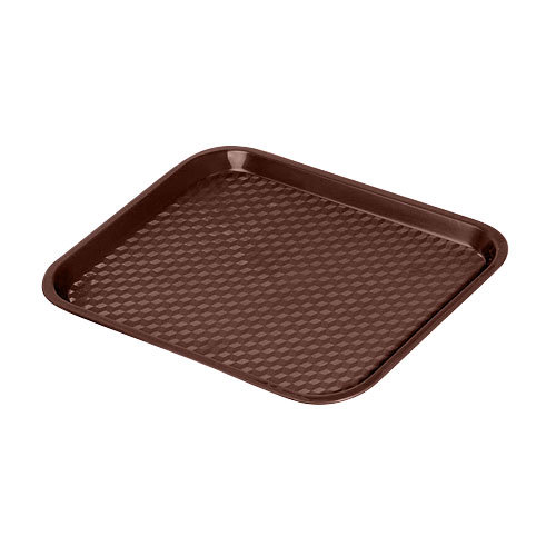 GET FT-14-BR Brown 14 inch x 10 3/4 inch Polypropylene Fast Food Tray - 24 / Case