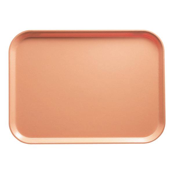 "Cambro 3753117 14 9/16"" x 20 7/8"" (37 x 53 cm) Rectangular Metric Dark Peach Customizable Fiberglass Camtray - 12/Case"