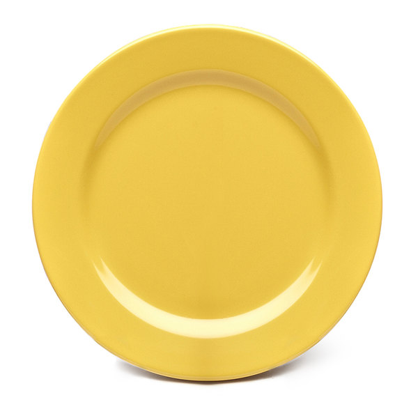 """Elite Global Solutions D1175PL Rio Yellow 11 3/4"""" Round Melamine Plate - 6/Case"""