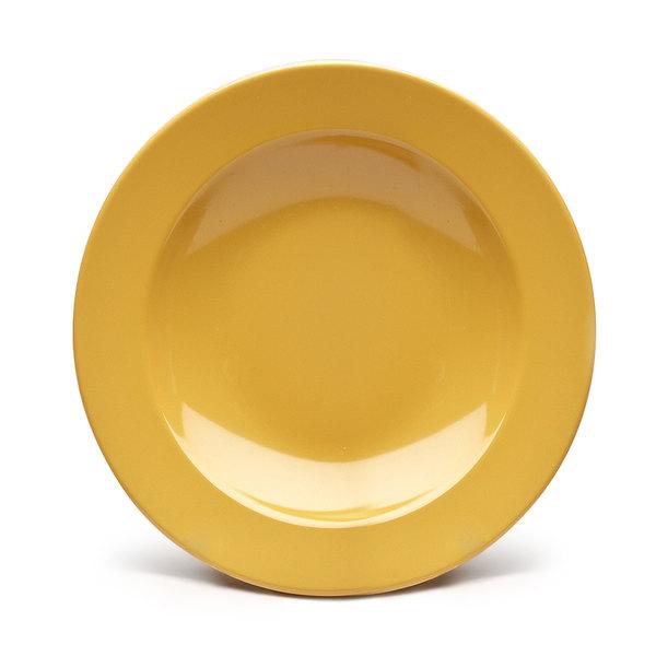 Elite Global Solutions D878PB Rio Yellow 12 oz. Round Melamine Pasta / Soup Bowl - 6/Case
