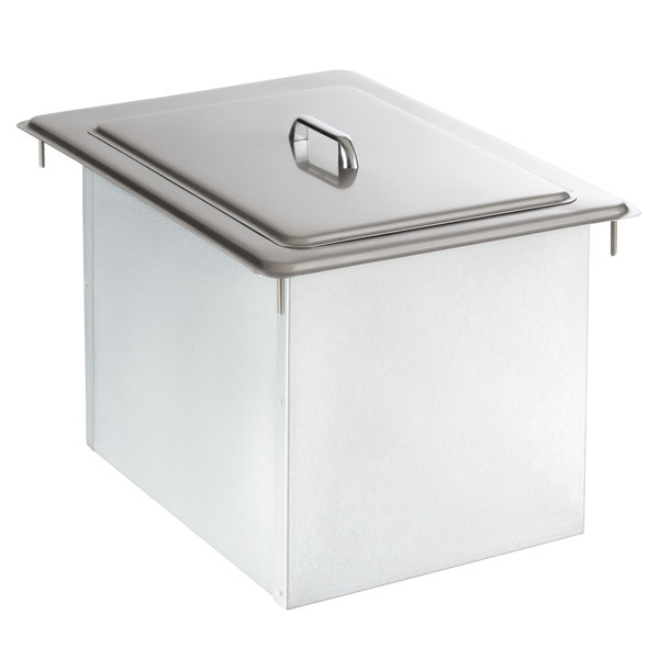 Delfield 305 Drop In Stainless Steel Ice Chest / Bin with Cover Main Image 1