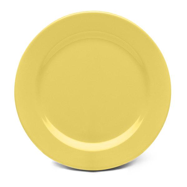 """Elite Global Solutions D1075PL Urban Naturals Olive Oil 10 3/4"""" Round Melamine Plate - 6/Case"""