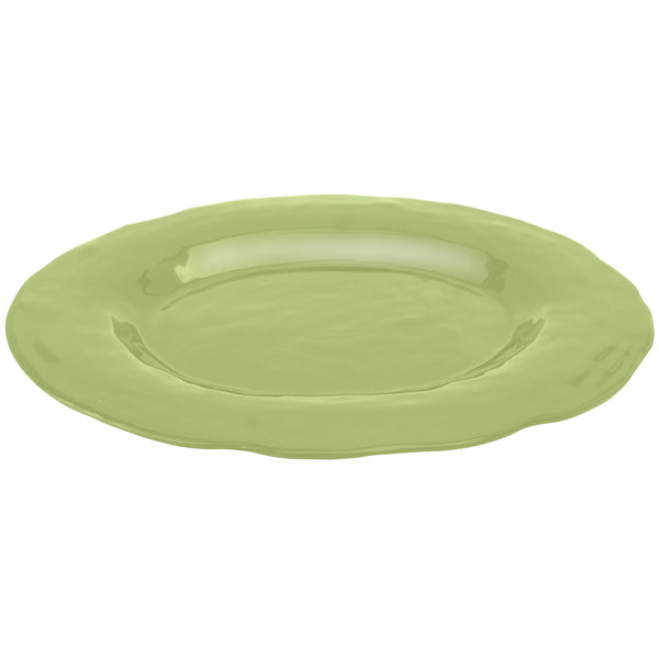 "Elite Global Solutions M16OVRF Tuscany Weeping Willow Green 17 1/2"" x 13"" Oval Platter"