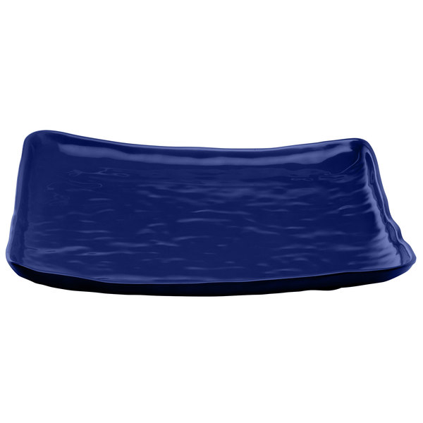 """Elite Global Solutions M14SQRF Tuscany Blue 13 1/2"""" Square Plate"""
