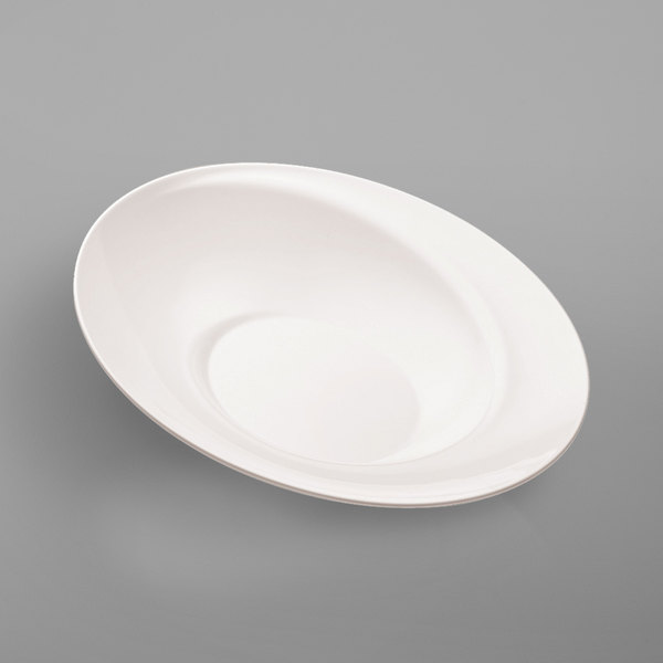Elite Global Solutions M6218NW Spiral White 7.25 Qt. Bowl Main Image 1