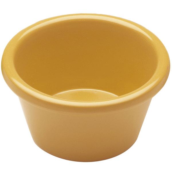 Elite Global Solutions R15SM Rio Yellow 1.5 oz. Melamine Ramekin