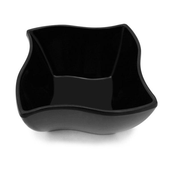 Elite Global Solutions M53B Wave Black 24 oz. Square Melamine Bowl