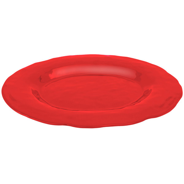 """Elite Global Solutions M16OVRF Tuscany Red 17 1/2"""" x 13"""" Oval Platter"""
