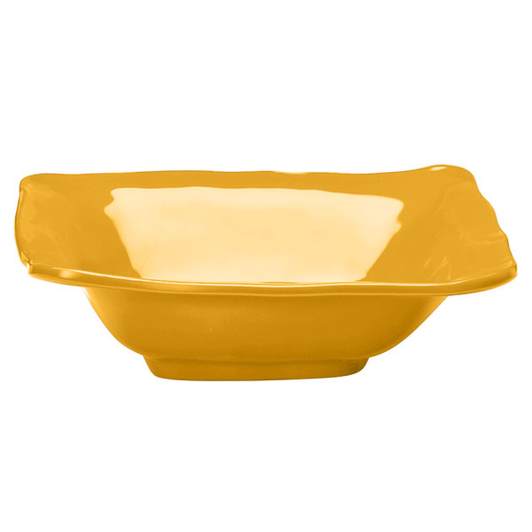 Elite Global Solutions M103BRF Tuscany Yellow 1.75 Qt. Square Bowl