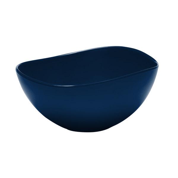 Elite Global Solutions M10OVBL Super Bowls Blue Almost Oval 3 Qt. Bowl