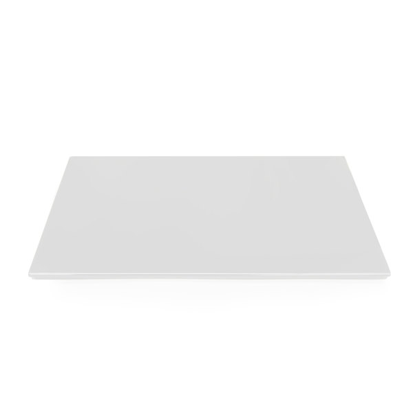"Elite Global Solutions M8155F Display White Melamine Flat Tray with Feet - 15 3/4"" x 7 3/4"""