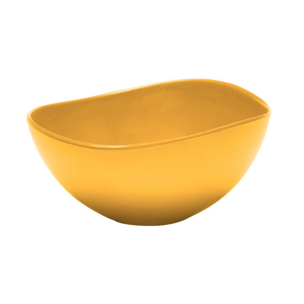 Elite Global Solutions M10OVY Classics Yellow Almost Oval 3 Qt. Bowl