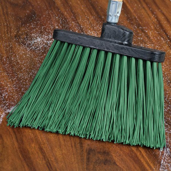 Carlisle 3686809 Duo-Sweep Heavy Duty Angled Broom Head with Unflagged Green Bristles