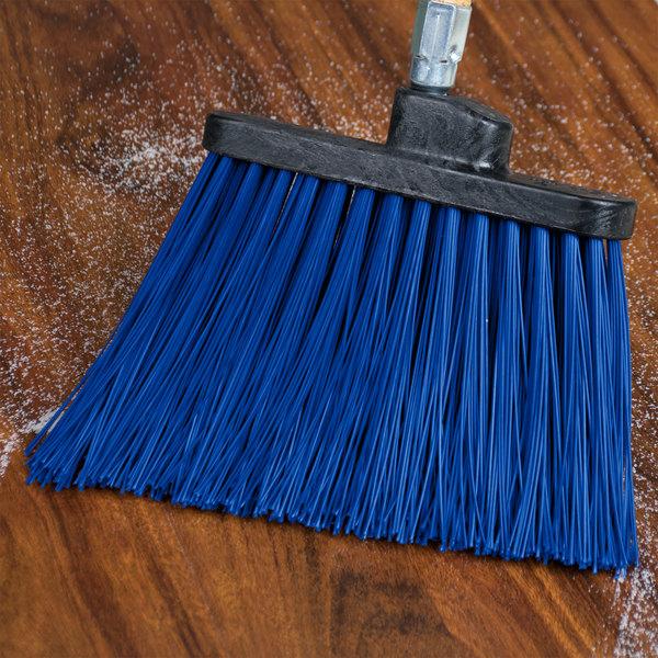 "Carlisle 36868EC14 Duo-Sweep 12"" Heavy Duty Angled Broom Head with Blue Unflagged Bristles Main Image 4"
