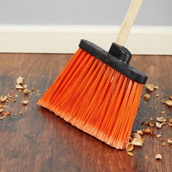 Carlisle 3686724 Duo-Sweep Medium Duty Angled Broom Head with Flagged Orange Bristles