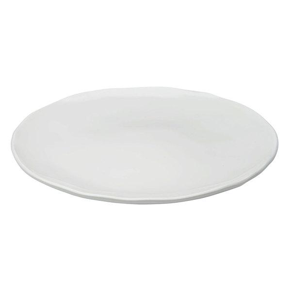 "Elite Global Solutions M12P The Edge Display White 12"" x 1"" Round Organic Edge Plate"