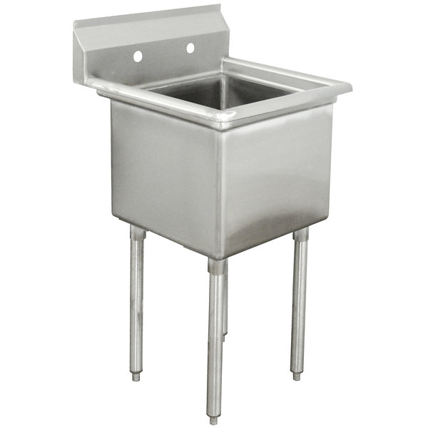 Advance Tabco FE-1-1620 One Compartment Stainless Steel Commercial Sink without Drainboard - 21""