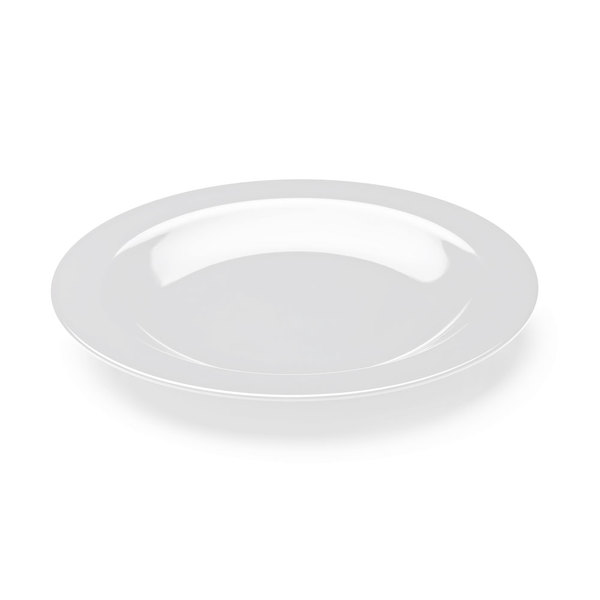 """Elite Global Solutions M20R The Classics Display White 20"""" Wide Rim Round Platter"""