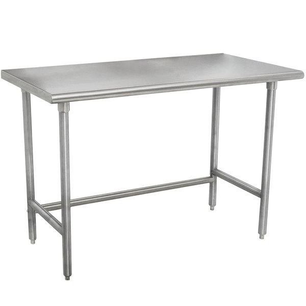 """Advance Tabco TMSLAG-244-X 48"""" x 24"""" 16 Gauge Professional Stainless Steel Work Table"""