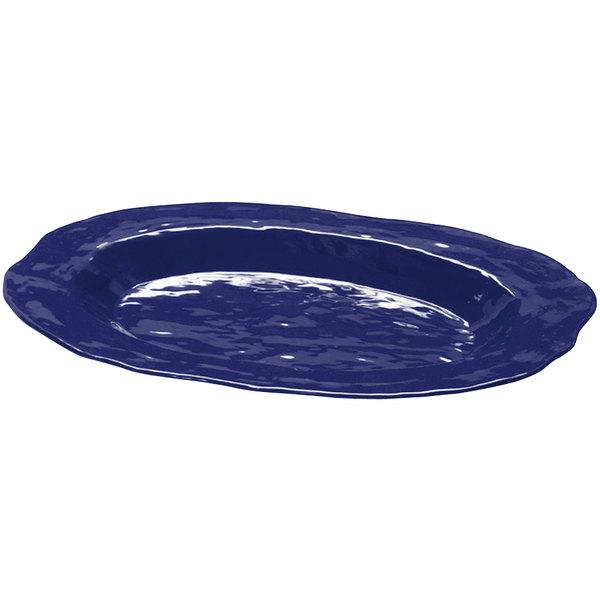 """GET ML-137-CB New Yorker 17 3/4"""" x 13"""" Oval Platter - Cobalt Blue"""