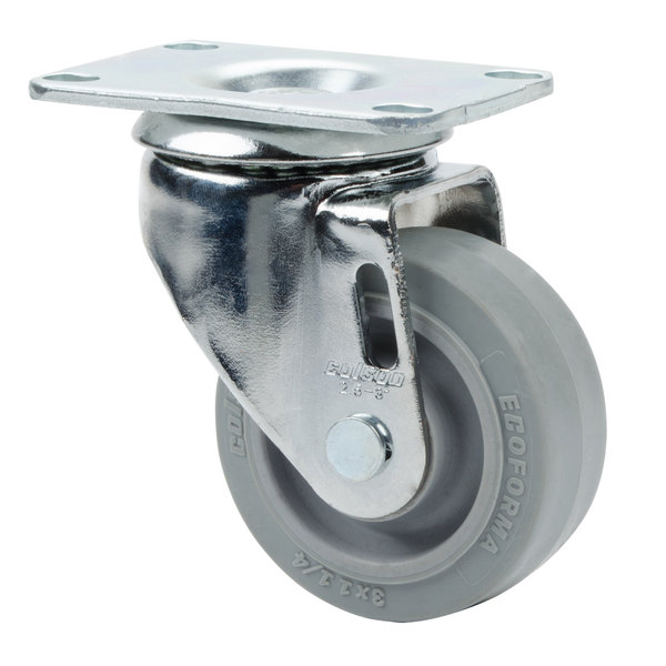 """Cambro 60005 3"""" Replacement Front Swivel Caster for Camcrispers and Ingredient Bins Main Image 1"""