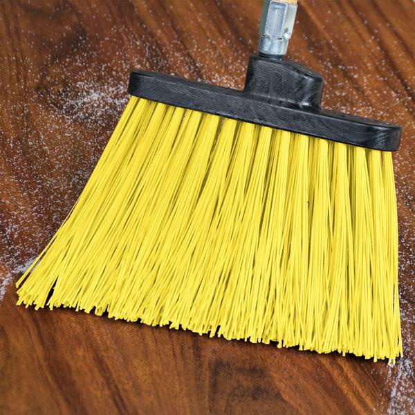 "Carlisle 36868EC04 Duo-Sweep 12"" Heavy Duty Angled Broom Head with Yellow Unflagged Bristles Main Image 4"