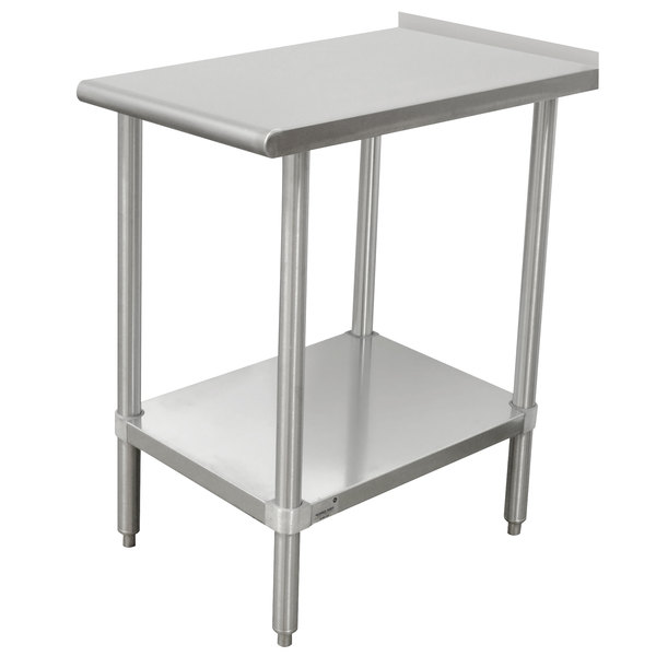 "Advance Tabco TFMSU-150 Stainless Steel Equipment Filler Table with Adjustable Undershelf - 15"" x 30"""