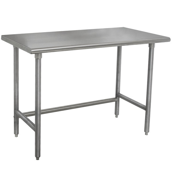 "Advance Tabco TMSLAG-306-X 72"" x 30"" 16 Gauge Professional Stainless Steel Work Table"