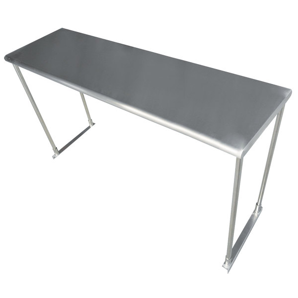 "Advance Tabco ETS-12-96 Stainless Steel Single Deck Knock Down Overshelf - 96"" x 12"" Main Image 1"