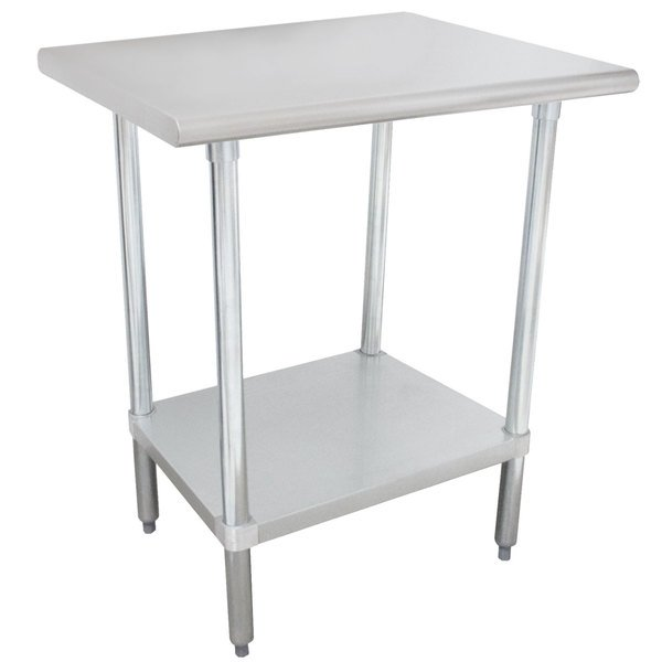 "Advance Tabco MSLAG-302-X 24"" x 30"" 16 Gauge Stainless Steel Work Table and Undershelf"