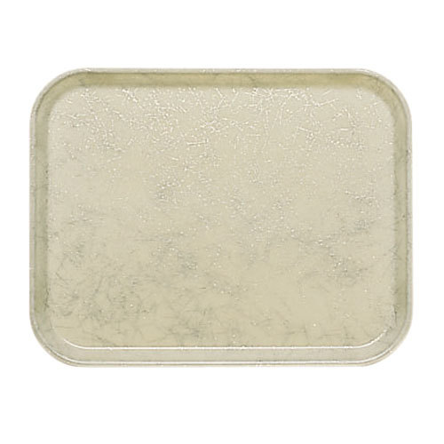 "Cambro 3753526 14 9/16"" x 20 7/8"" (37 x 53 cm) Rectangular Metric Galaxy Antique Parchment Gold Customizable Fiberglass Camtray - 12/Case"
