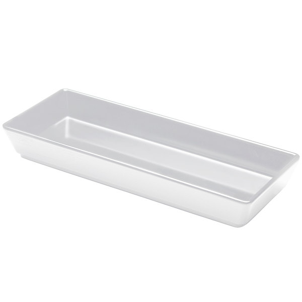 Elite Global Solutions M615NW The Bakers Display White 26 oz. Rectangular Melamine Bowl
