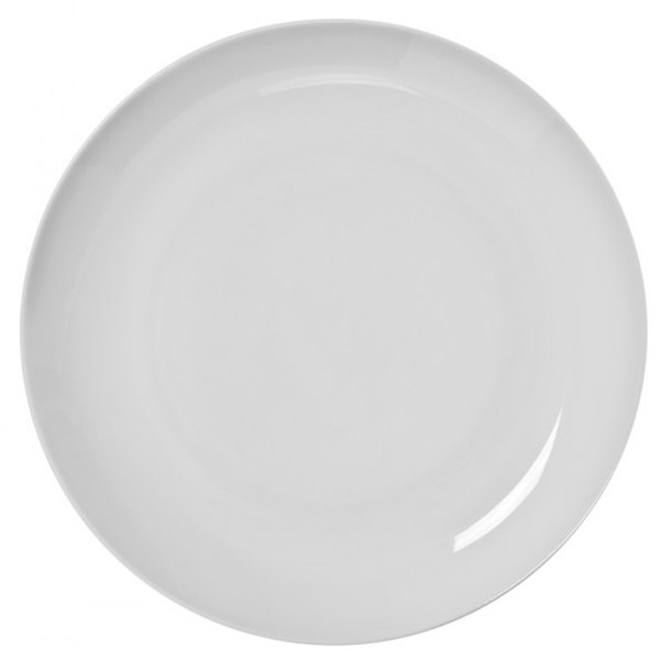 """10 Strawberry Street RCP0008 Royal Coupe 8 5/8"""" White Porcelain Luncheon Plate - 24/Case"""
