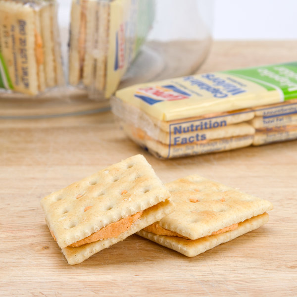 Lance Captain's Wafers Jalapeno Cheddar Sandwich Crackers 20 Count Box - 6/Case