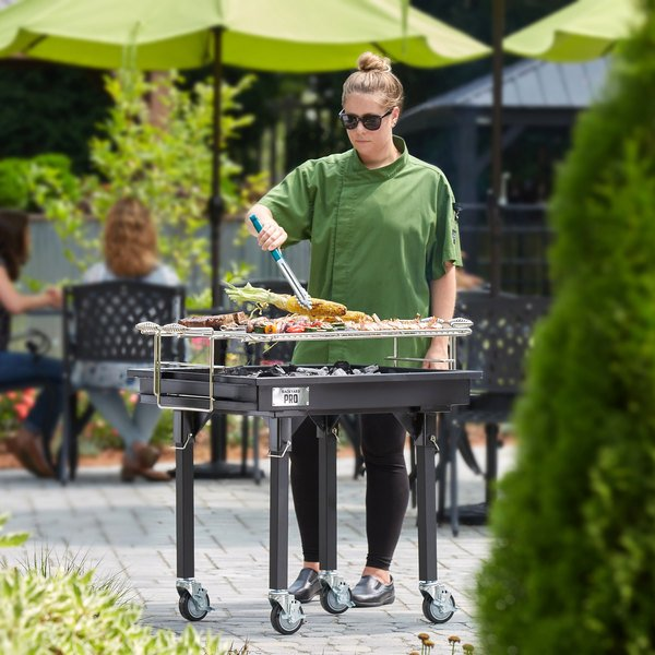 """Backyard Pro 30"""" Heavy-Duty Steel Charcoal Grill with Removable Legs and Cover"""