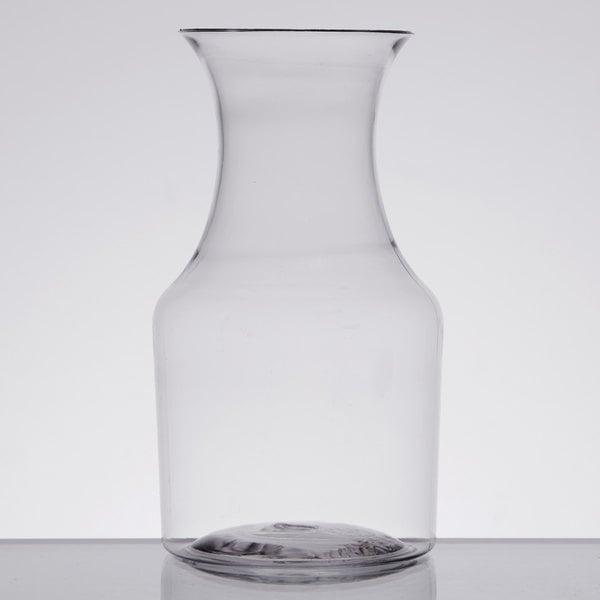 Fineline 6417 Tiny Temptations 7.5 oz. Clear Mini Wine Pitcher / Carafe - 60/Case