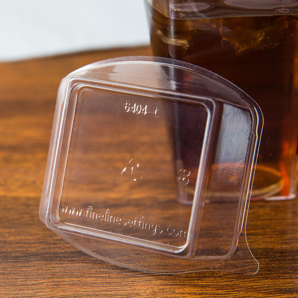 Fineline Tiny Temptations 6404-L Clear Dome Lid for 4 oz. Tiny Tumbler - 10/Pack