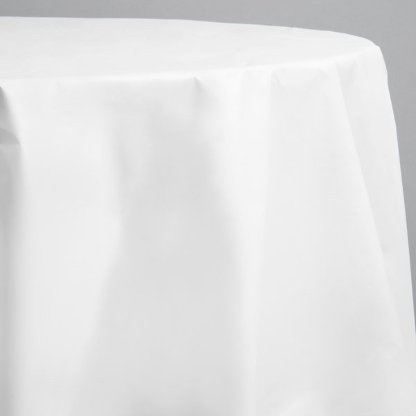 Creative Converting 703272 82 White, Round Paper Table Covers White