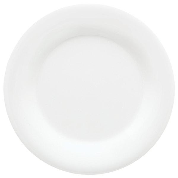 "GET WP-6-DW Diamond White 6 1/2"" Wide Rim Plate - 48/Case Main Image 1"