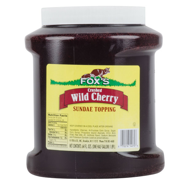 Fox's 1/2 Gallon Cherry Ice Cream Sundae Topping - 6/Case